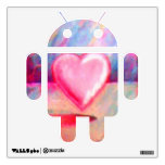 Etiqueta androide de la pared del amor