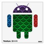 Etiqueta androide retra colorida de la pared