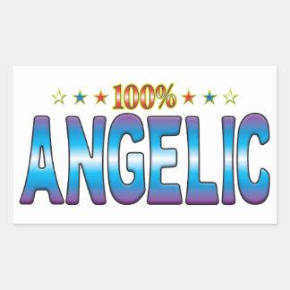 Etiqueta angelical v2 de la estrella
