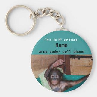 Etiqueta animal de la identificación de la maleta llavero