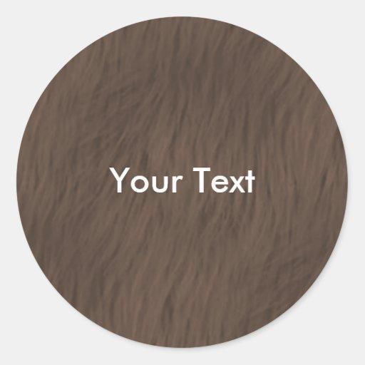 Etiqueta animal del nombre del pegatina de la piel