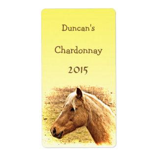 Etiqueta animal soleada del vino del caballo del etiqueta de envío