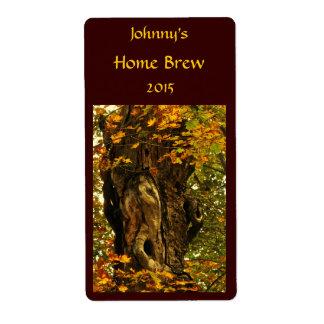 Etiqueta antigua de la cerveza del árbol etiqueta de envío