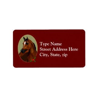 Etiqueta árabe de Avery del camafeo del navidad Etiquetas De Dirección