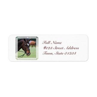 Etiqueta árabe linda del remite del caballo etiqueta de remite