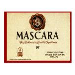 Etiqueta argelina del vino del vintage, MascaraSid Postal