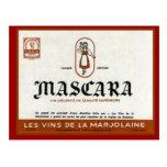 Etiqueta argelina del vino del vintage, rimel postales