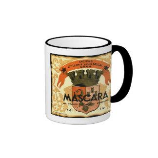 Etiqueta argelina del vino del vintage, rimel tazas de café