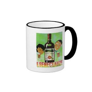 Etiqueta argelina del vino del vintage taza de café