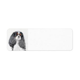 Etiqueta arrogante del remite del perro de aguas etiqueta de remite
