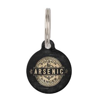 Etiqueta arsénica del veneno del estilo del placas para mascotas