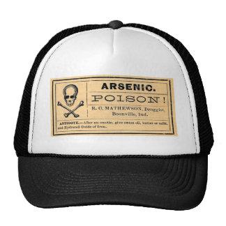 Etiqueta arsénica del veneno del vintage gorra