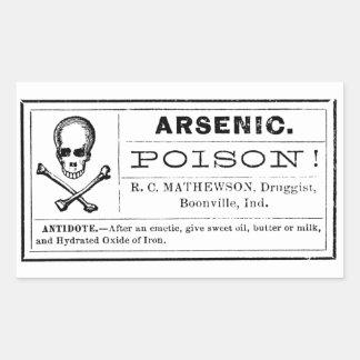 Etiqueta arsénica del veneno del vintage