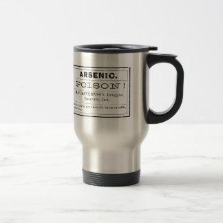 Etiqueta arsénica del veneno del vintage taza