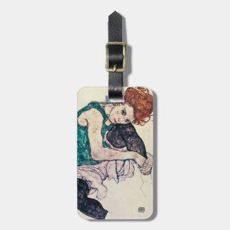 Etiqueta asentada Schiele del equipaje de la mujer Etiqueta De Equipaje