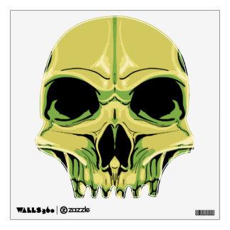 Etiqueta asustadiza de la pared del cráneo