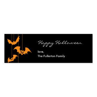 Etiqueta asustadiza del regalo de Halloween de las Tarjetas De Visita