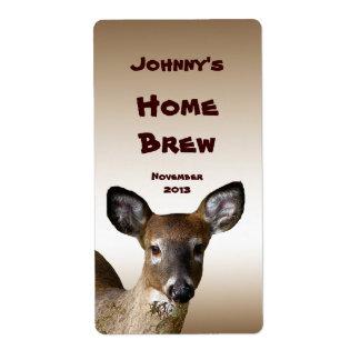 Etiqueta atada blanco de la cerveza de los ciervos etiqueta de envío