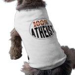 Etiqueta atea camiseta de perrito