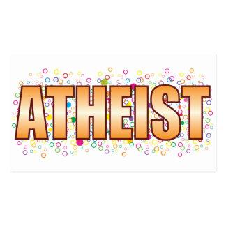 Etiqueta atea de la burbuja tarjetas de visita