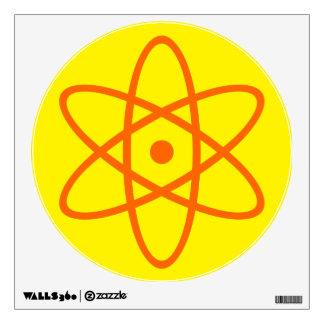 etiqueta atómica de la pared - naranja y amarillo vinilo