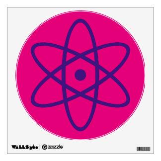 etiqueta atómica de la pared - púrpura y rosa vinilo adhesivo