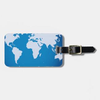 Etiqueta atractiva del equipaje del mapa del mundo etiquetas para maletas