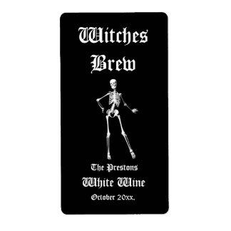 Etiqueta atractiva del vino del Brew de las brujas Etiquetas De Envío