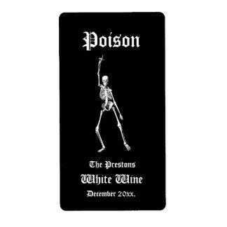 Etiqueta atractiva del vino del veneno de los etiqueta de envío