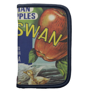 Etiqueta australiana del cajón del cisne blanco organizador