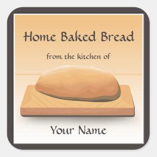 Etiqueta autoadhesiva cocida hogar del pan