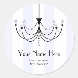 Etiqueta autoadhesiva cristalina de la dirección