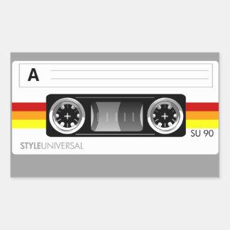 Etiqueta autoadhesiva de la cinta de casete