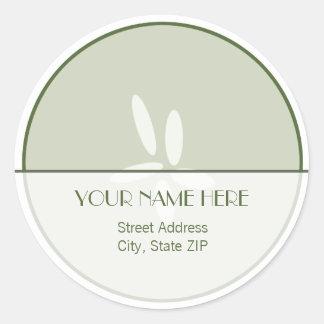 Etiqueta autoadhesiva de la dirección del pepino