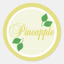 Etiqueta autoadhesiva de la fruta de la piña
