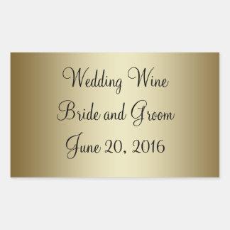 Etiqueta autoadhesiva negra del vino del boda del