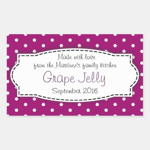 Etiqueta autoadhesiva púrpura de la comida de la