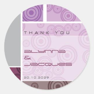 Etiqueta autoadhesiva púrpura del regalo de los bl