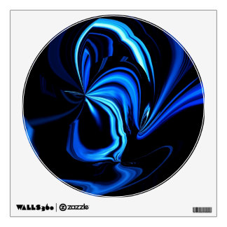 Etiqueta azul abstracta de la pared de la mariposa