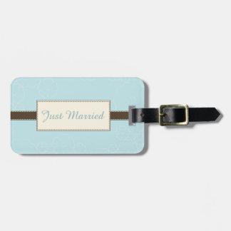 Etiqueta azul clara etiquetas maleta