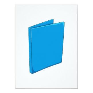 """Etiqueta azul de encargo del franqueo de la invitación 6.5"""" x 8.75"""""""
