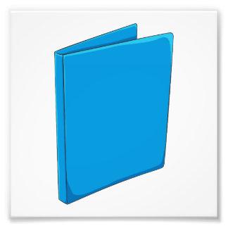 Etiqueta azul de encargo del franqueo de la fotografias