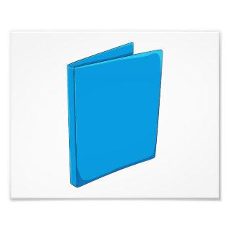 Etiqueta azul de encargo del franqueo de la foto