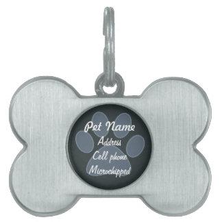 Etiqueta azul de encargo del mascota de la placas mascota