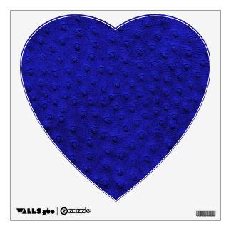 Etiqueta azul de la pared del corazón de la vinilo decorativo