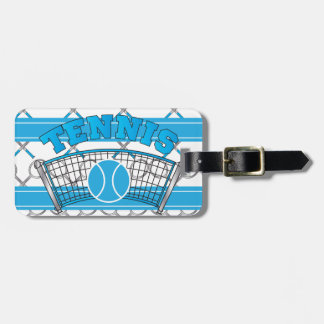 Etiqueta azul del bolso del tenis etiquetas para maletas