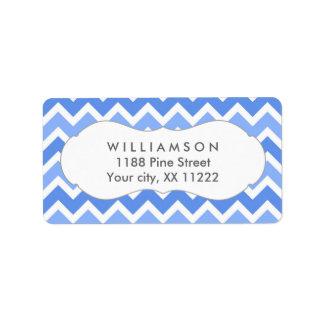 etiqueta azul del favor de la fiesta de bienvenida etiquetas de dirección