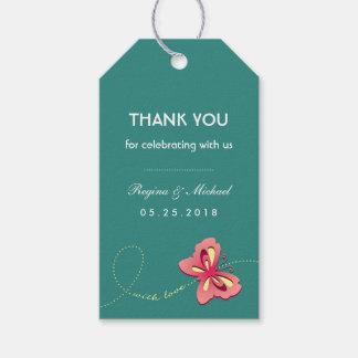 Etiqueta azul del regalo del favor de banquete de etiquetas para regalos