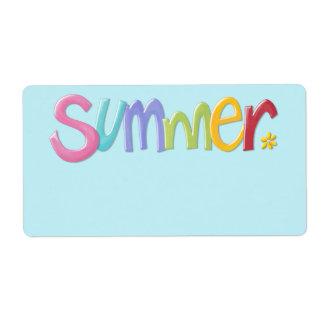Etiqueta azul del regalo del verano etiqueta de envío