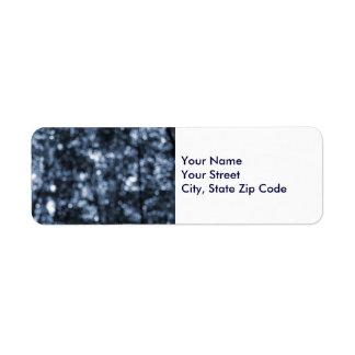 Etiqueta azul del remite de Bokeh Etiqueta De Remitente